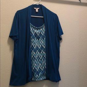 blazer/shirt combo